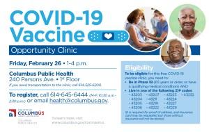 COVID-19 Vaccine Opportunity Clinic