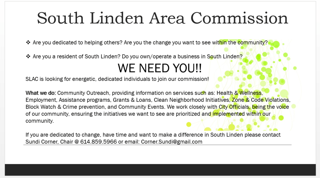 South Linden Commission Seeking Candidates